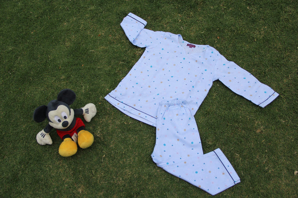 Comfy Blue Night Wear Set (0-8Yrs)