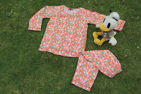 Tangy Floral Night Wear Set (0-8Yrs)