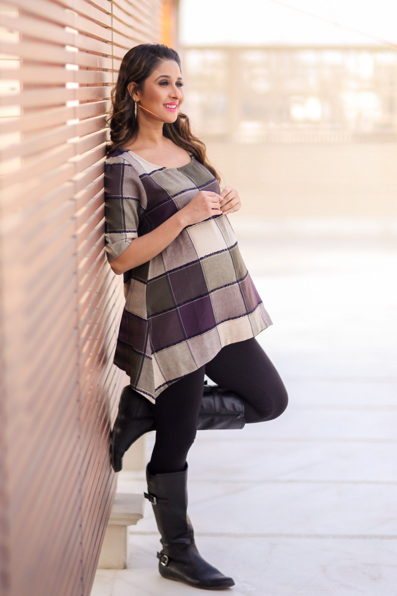 Rusted Patch Maternity Top