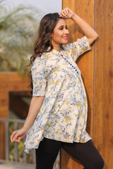 Sunshine Floral Flowing Maternity Top