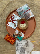 Phoolon Ke Rang Rakhi Set (For Brother & Sister-in-law)
