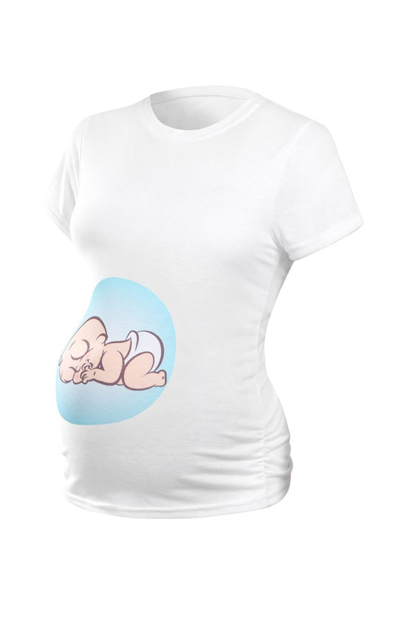 Cute Blue Baby Maternity Tee/T-shirt