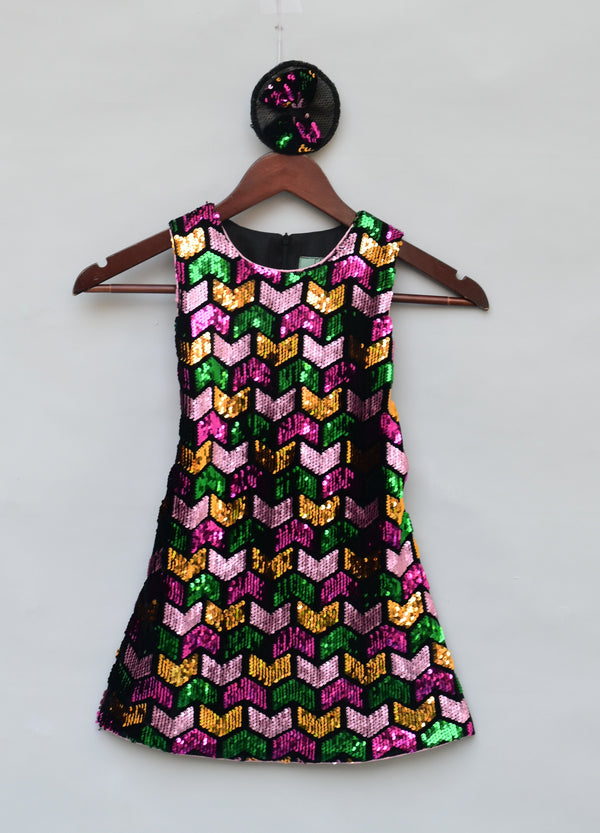 Multi Colour Sequence Dress