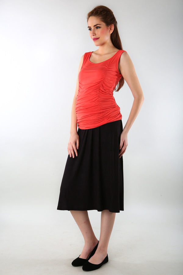 Premium Black Maternity Skirt - MOMZJOY.COM - 1