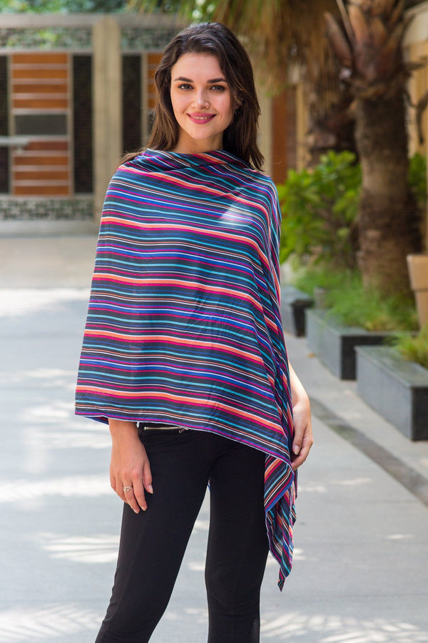 Multicolor Striped Nursing Stole