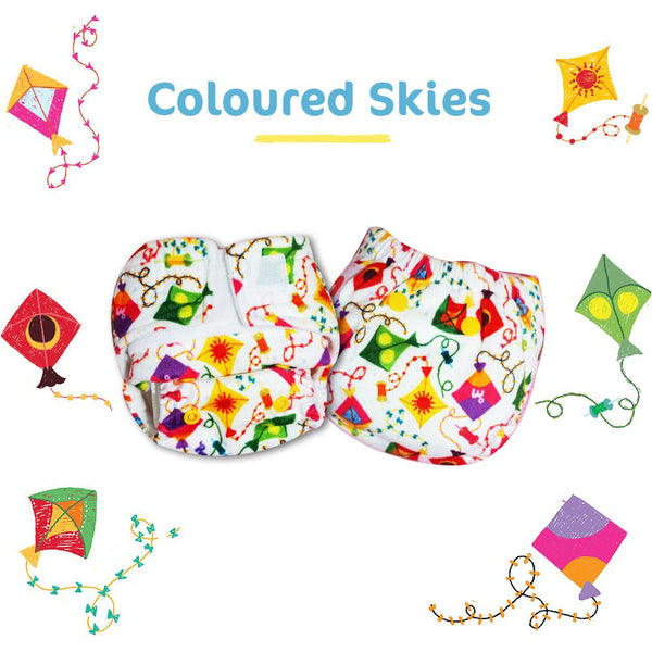 Colored Skies Newborn Uno Reusable Diaper (For 2.5-6kg Baby)