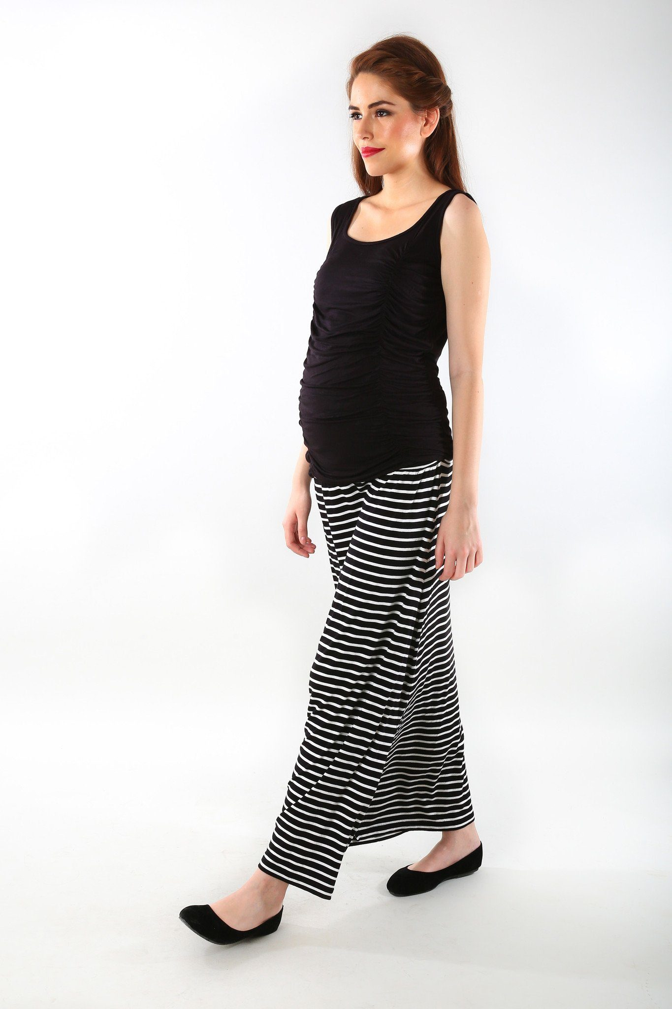 Striped A-Line Maternity Skirt - MOMZJOY.COM - 2