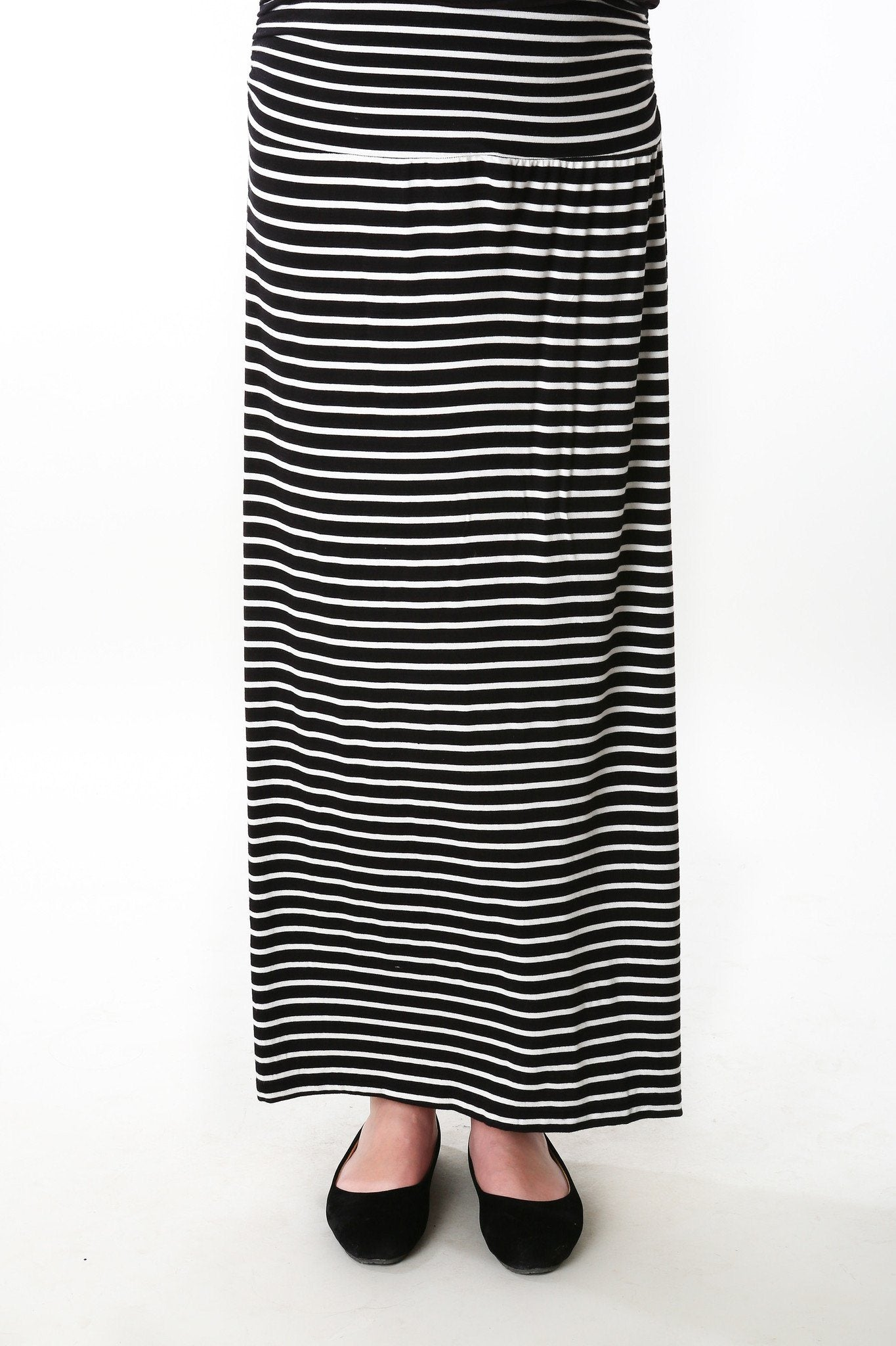 Striped A-Line Maternity Skirt - MOMZJOY.COM - 5