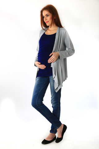 Striped Cascading Maternity Cover Up