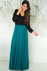 Emerald Jade Maternity & Nursing Wrap Dress - MOMZJOY.COM