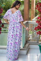 Spring Floral Luxe Maternity Maxi Dress