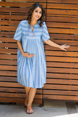 Versatile Denim Maternity Tunic