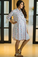Color Splash Maternity & Nursing Shirt Dress