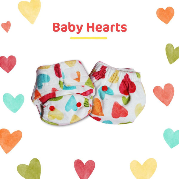 Baby Hearts Newborn Uno Reusable Diaper (For 2.5-6kg Baby)