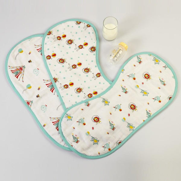 Circus Circus Burp Cloth Cum Bib  (Set of 3)