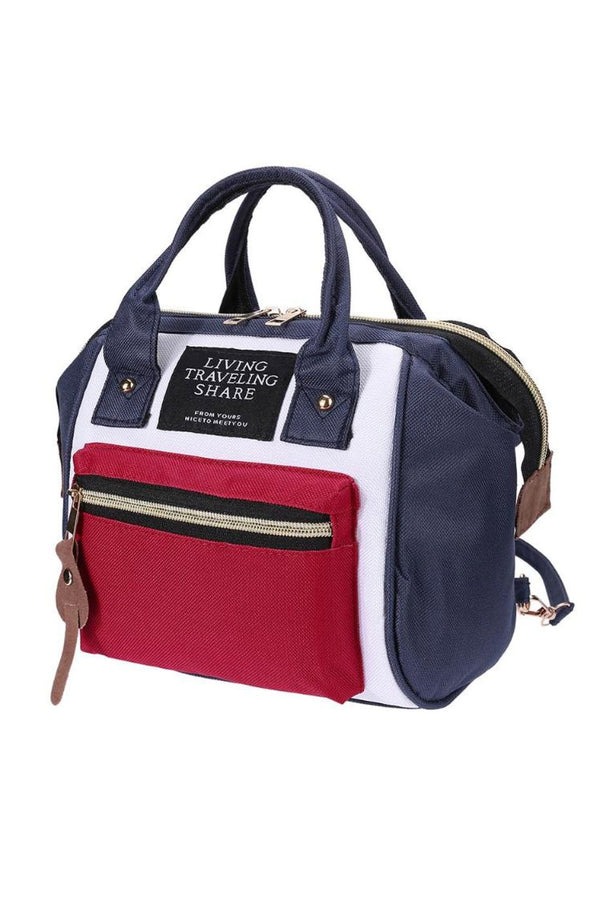 Slick Navy Cherry Multifunctional Travel Diaper Bag