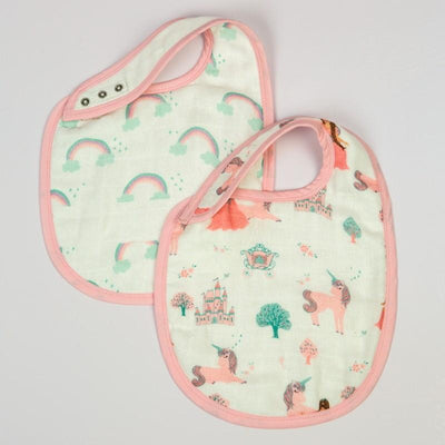 Rainbow & Unicorns Bib Set  (Set of 2)