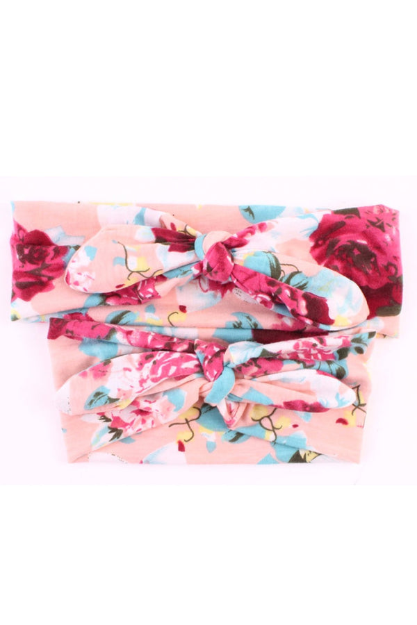 Peachy Mom & Baby Girl Matching Floral Headbands (2 pcs)