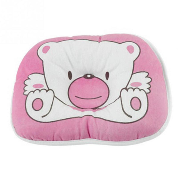 Pink Bear Newborn Head Shaping Pillow (Avoid The Flathead)