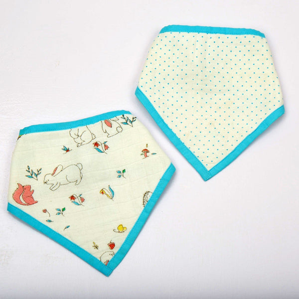 Snuggle Bunny Organic Burp Cloth Cum Bib  (Set of 2)