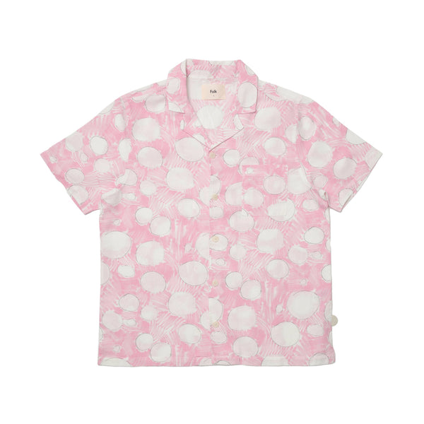 Folk x Daniel Johnston SS Shirt - Pink Polka Dot