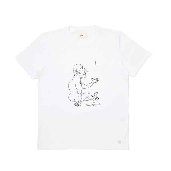Folk x Daniel Johnston SS Tee - Tear Drop in White