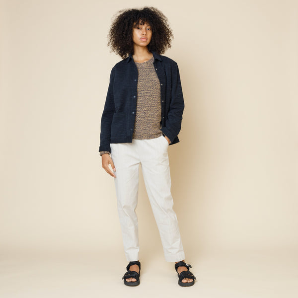 Painters Jacket - Navy Irregular Weave