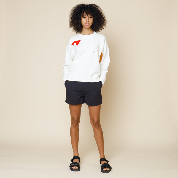 Scatter Stitch Sweat - Ecru Multi