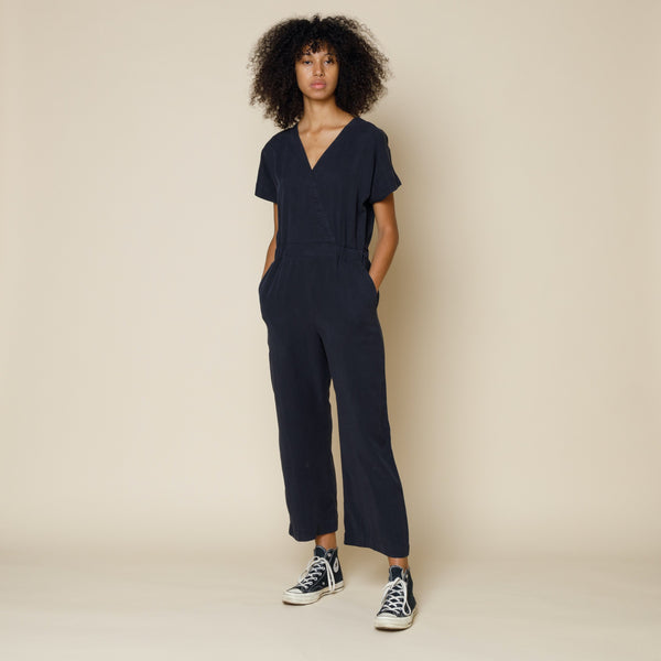 Wrap Jumpsuit - Navy