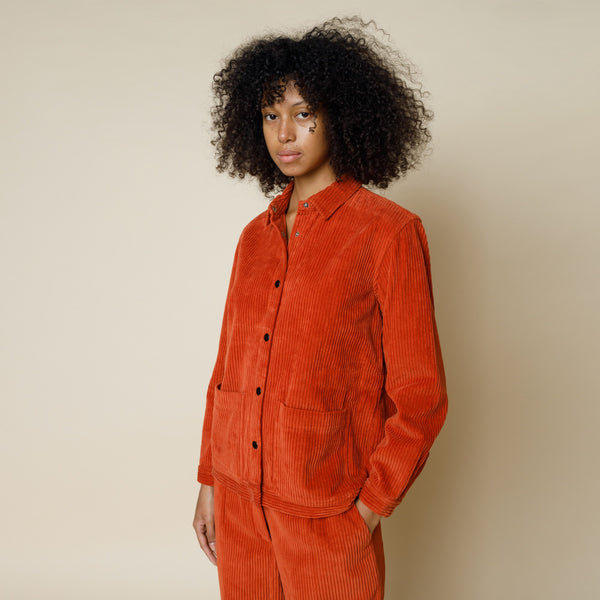 Painters Jacket - Brick Red Cord