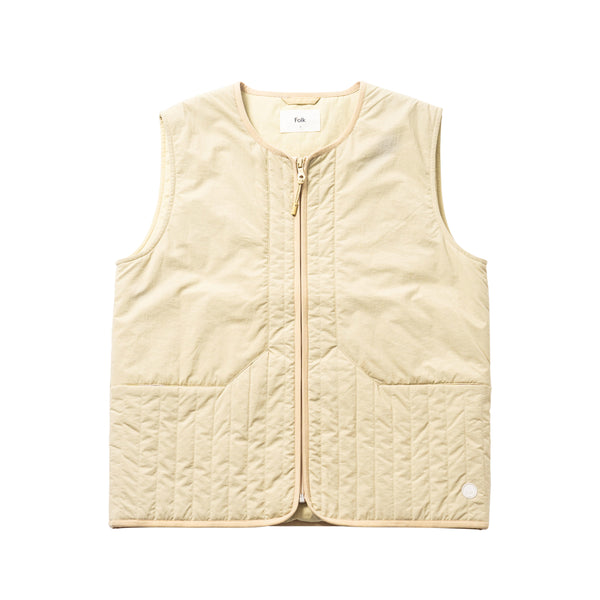 Wadded Junction Gilet - Light Gold