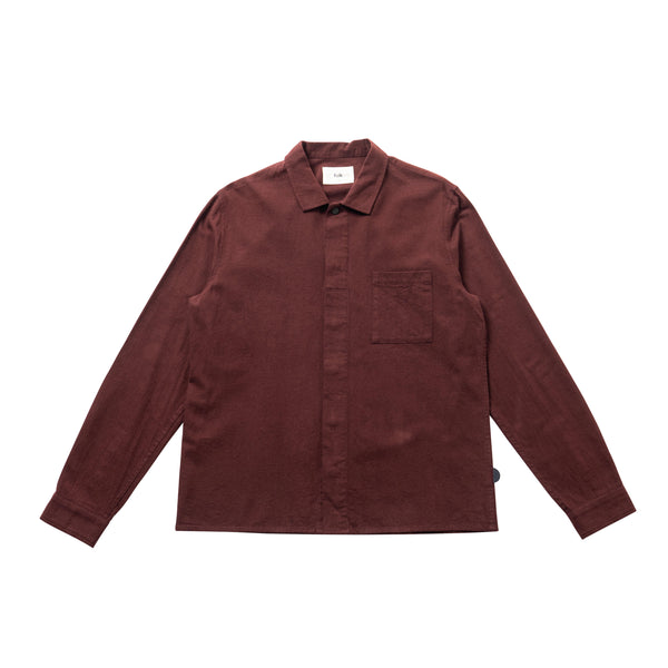 Patch Shirt - Aubergine Flannel