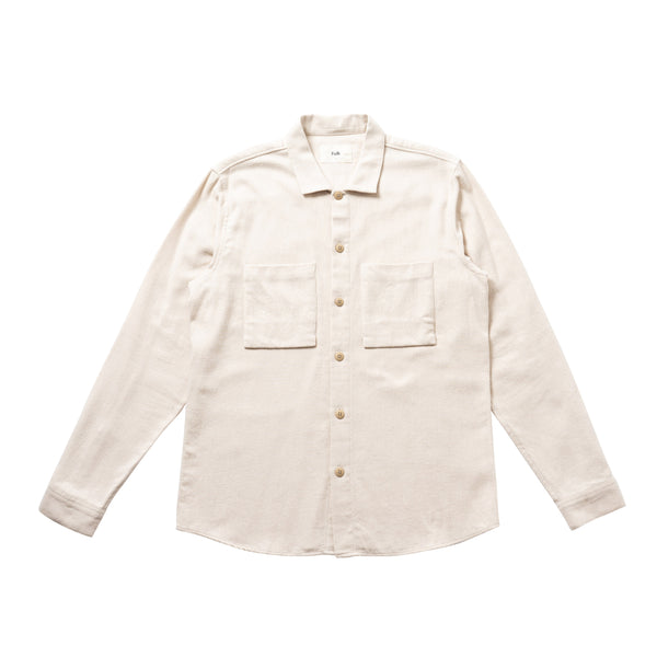 Shirt Jacket - Brushed Ecru Twill