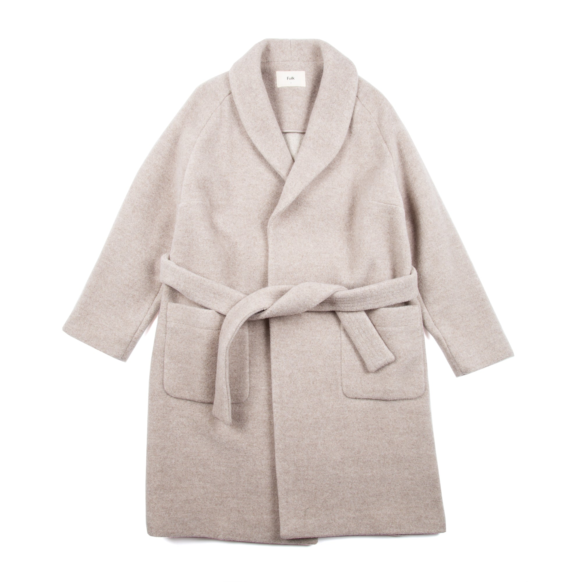 Wrap Coat - Warm Grey
