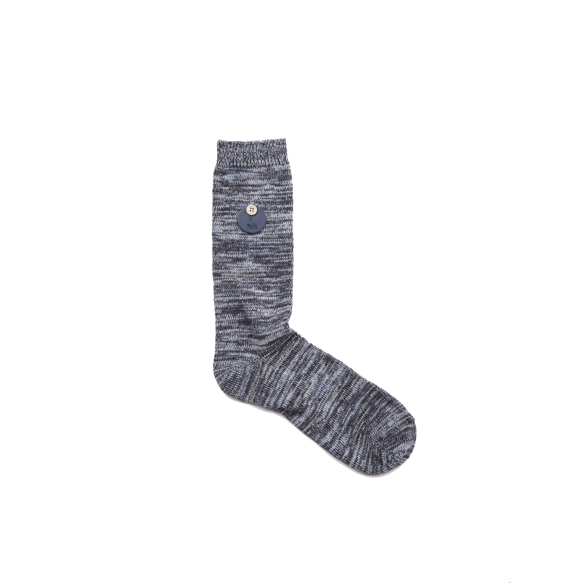 Melange Socks - Blue Charcoal Melange