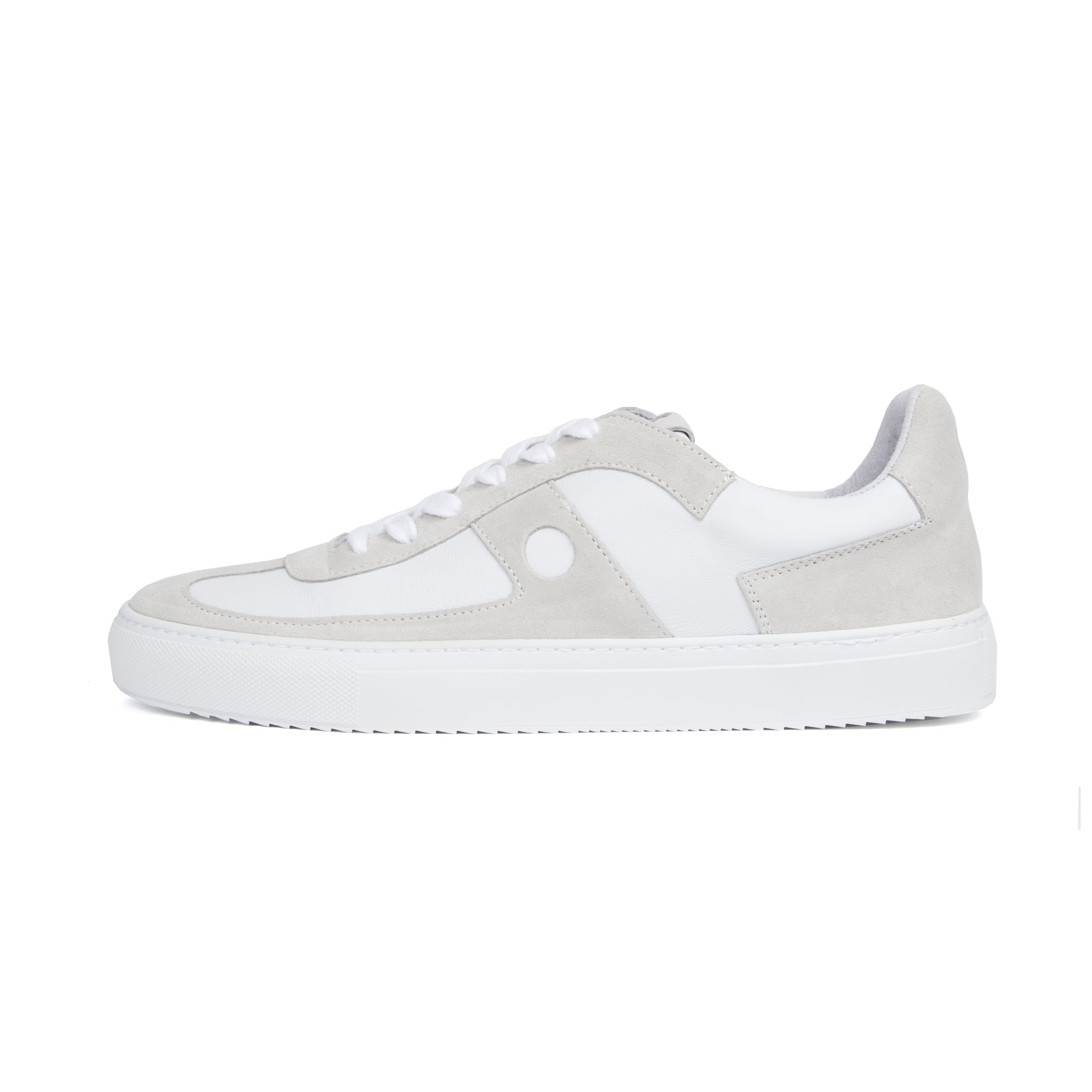 Mid Court Sneakers - White Off White Suede