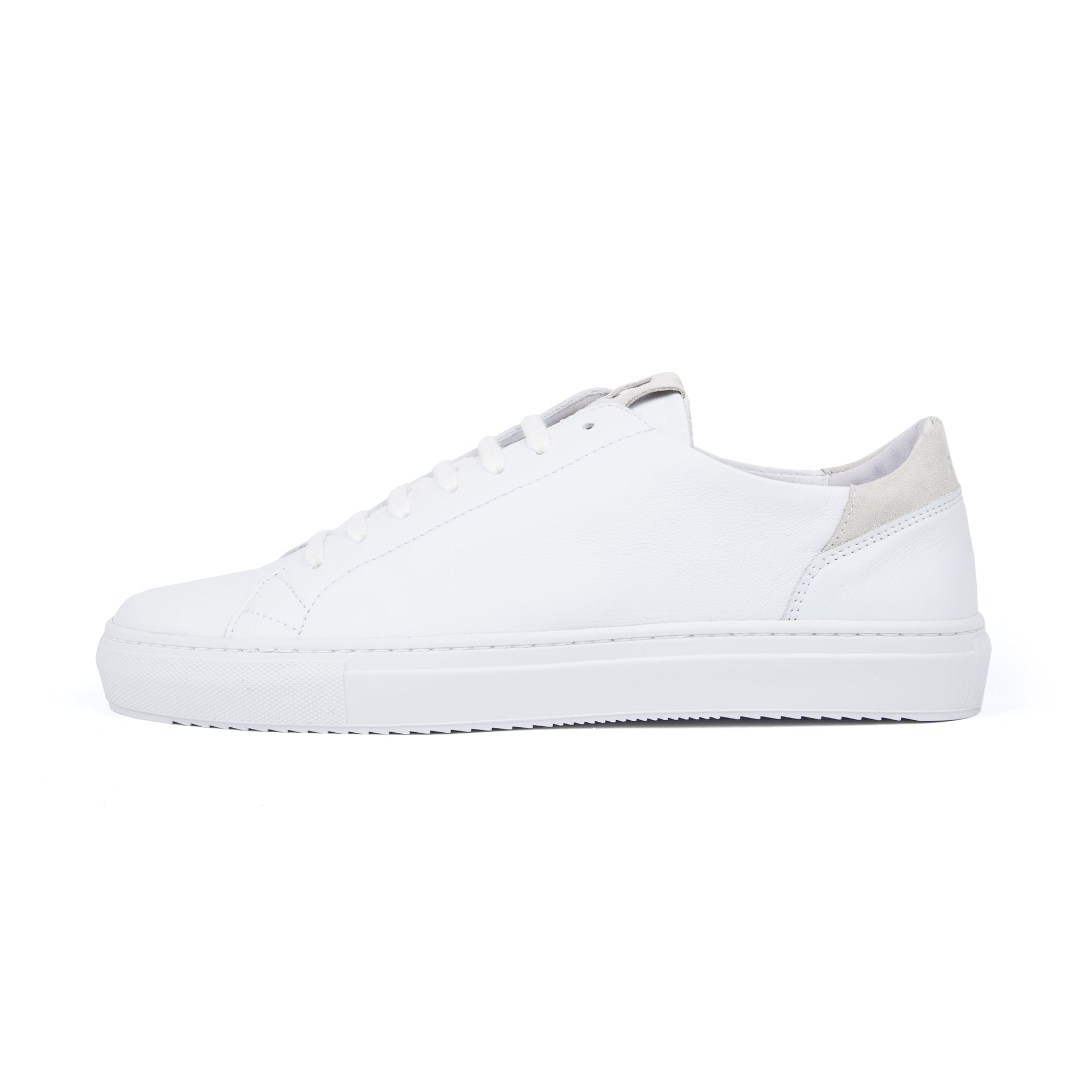 Mid Leather Sneaker - White