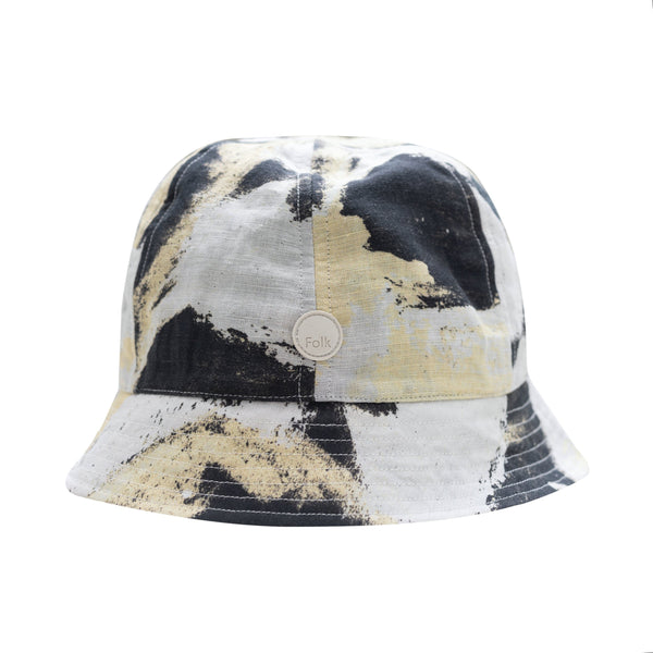 Folk x Alfie Kungu - Bucket Hat - Light Gold Flare Print