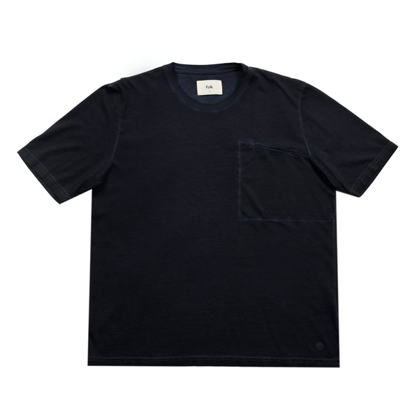SS Pocket Tee - Cold Dye Midnight