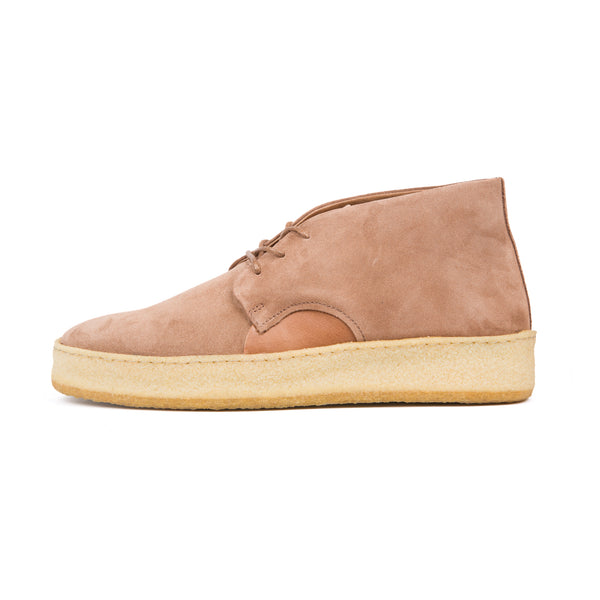 Wrap Around Suede Desert Boot- Cognac Brown