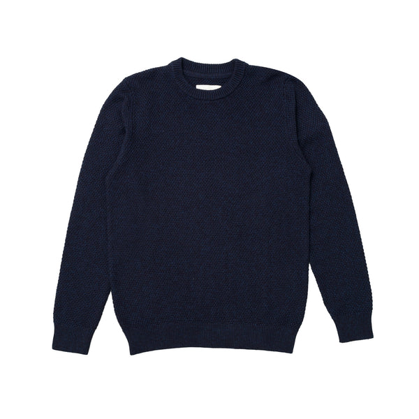 Round Neck Jumper - Navy / Indigo
