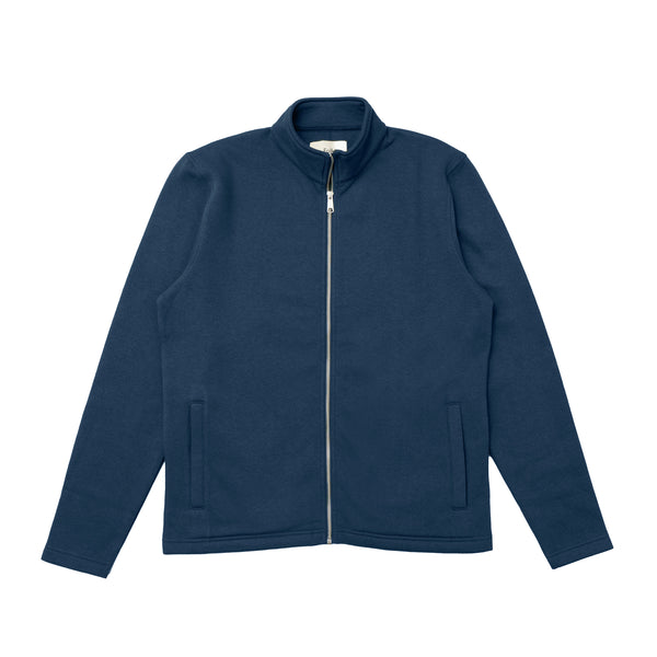 Full Zip Heavyweight Fleece - Indigo