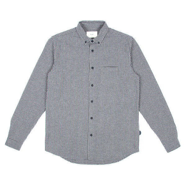 Relaxed Fit Shirt - Navy Mini Check