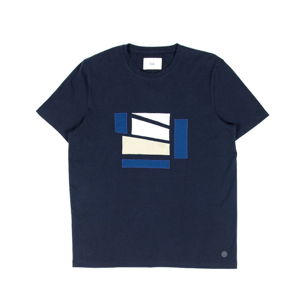 Applique Tee - Junction Navy/ White