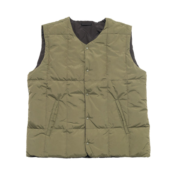 Riversible Fog Gilet - Olive/ Soft Black