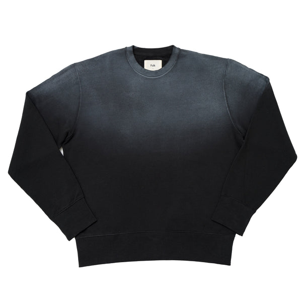 Boxy Sweat - Charcoal Gradient