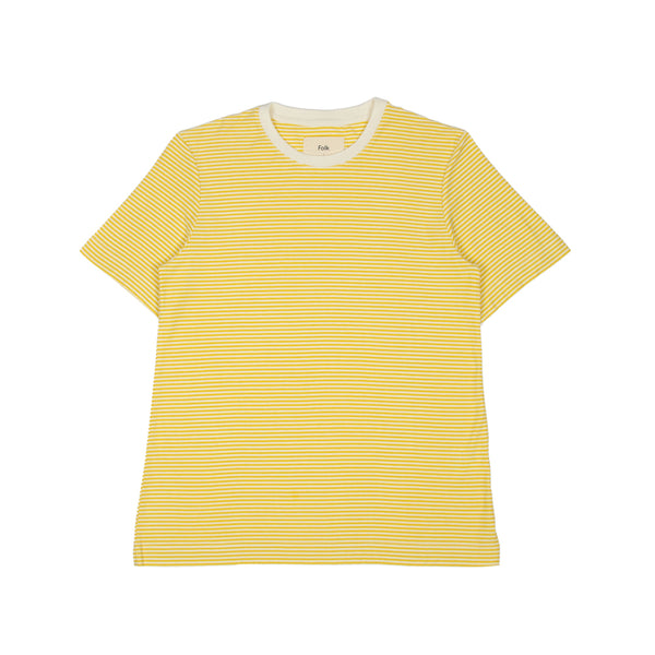 1x1 Stripe Tee -  Light Gold Ecru
