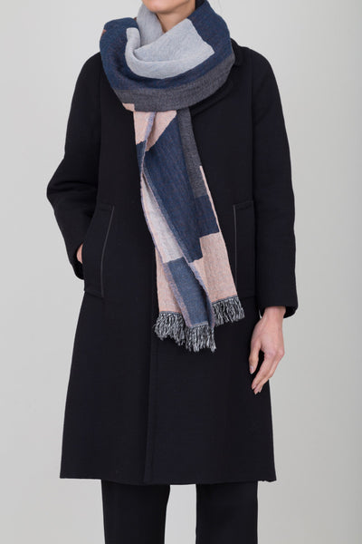 Totum Scarf - Navy/Red