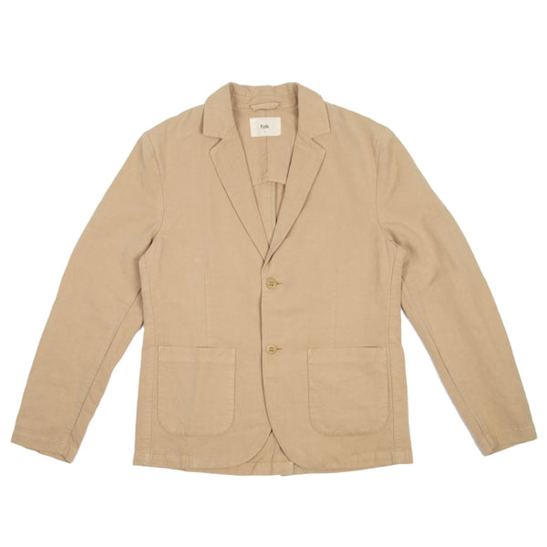 Cotton Linen Blazer - Fog