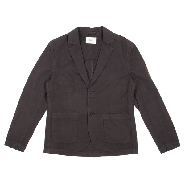 Cotton Linen Blazer - Soft Black